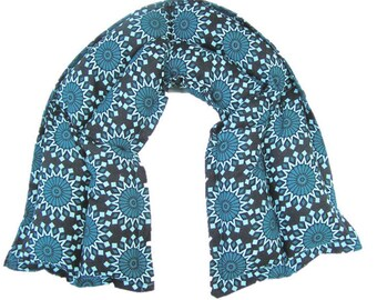 Cold and heat packs, Microwave heating pad, Heat pack, Neck heating pad, Massage therapy, Gift for Her/Teal and Black Heatable Neck Wrap