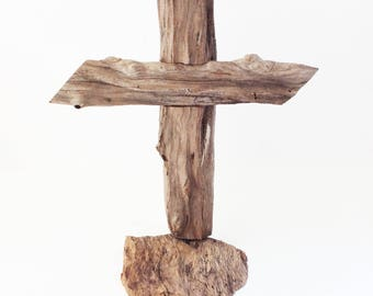 Driftwood Cross from Aromatic Cedar Wood