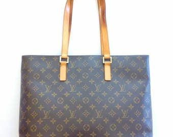 Gorgeous!!! Authentic Preowned LOUIS VUITTON Classic Monogram Luco Large Tote Bag. Great condition with some minor defect on strap.