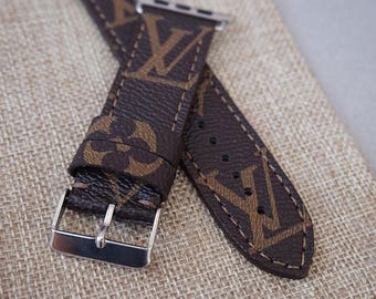 Lv straps, Apple watch strap, Apple watch band, lv watch strap, Lv handmade strap, Apple watch 2, Samsung S3 band, Apple watch 3, lv canvas