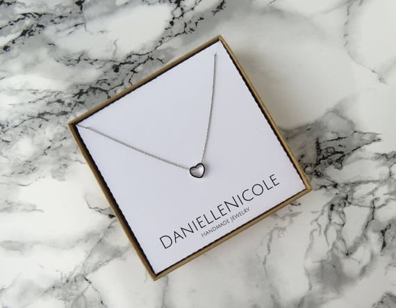 Dainty Heart Necklace, Pendant Necklace, Dainty Necklace, Everyday Jewelry, Dainty Jewelry, Simple Necklace, Simple Jewelry, Gifts for Her