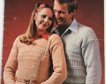 Vintage 1970's Patons Lambswool knitting pattern booklet 5350
