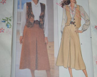 Butterick 4224 Misses Vest Skirt and Shirt Sewing Pattern - UNCUT - Size 12 14 16