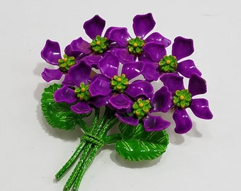 Gorgeous Enameled Bouquet of Flowers