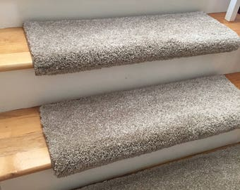 Dazzling Acorn Plush Shag True Bullnose™ Carpet Stair Tread  - For Safety Comfort Dog Cat Pet (Sold Each)
