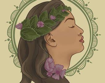 Passion Girl Illustration