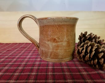 Light rust pottery coffee mug