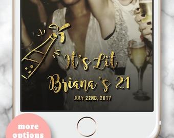 Snapchat Filter 30th Birthday * Gold Champagne Snapchat Filter Snapchat Geofilter Birthday Snapchat Filter 21 Glass Bday Snap Chat Filter
