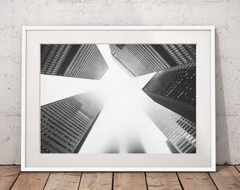 Architecture print, abstract photography, black and white print, architecture photo download, large wall art, abstract architechture