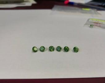 Vivid green tourmaline round faceted gemstone 1pc 5mm