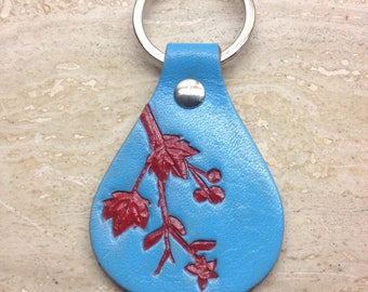 Leather handcrafted keyfob