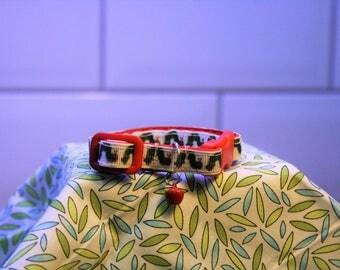 "Handmade Cat Collar - ""The Hungry Caterpiller"""