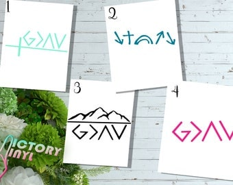 God Is Greater Than The Highs And Lows   Faith Decal   Christian Decal   Inspirational Decal   Faith Sticker