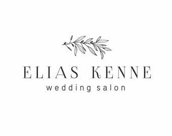 Wedding logo, Premade logo design, Floral design, Leaf logo, Farm logo, Nature logo, Organic logo,  Event logo, Branch logo, Olive logo