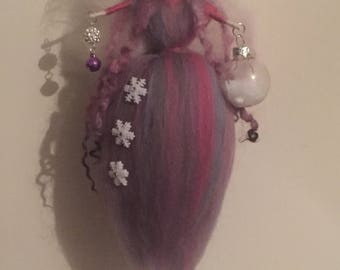 Needle Felt Fairy, Hanging Fairy, Waldorf Inspired, Fairy