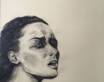 Breath - charcoal drawing