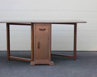Oak Gate Leg / Drop Leaf Table