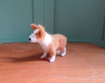 needle felted corgi, miniature dog, needle felted corgy, needle felted animals, corgi soft sculpture, dog ornament