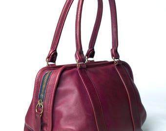 MINT! Coach Vintage Cinched Doctor Bag Soft Satchel Burgundy Leather