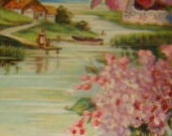 Nice Embossed Vintage Floral/Sceanic Postcard #5