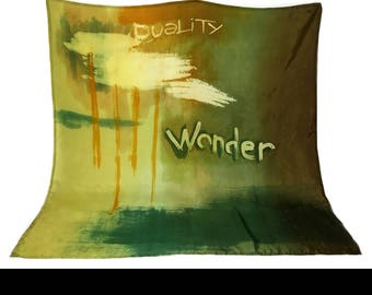WONDER - Large Square, Hand painted SCARF