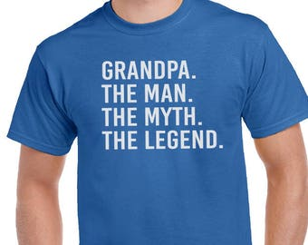 Grandpa shirt-Grandpa The Man The Myth The Legend Shirt- Christmas Gift Gift For Grandpa, Men's Shirt, Husband Gift, Birthday, Gift For Dad.