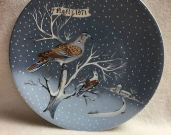 Haviland Twelve Days of Christmas Collector Plate - 'Two Turle Doves' (#189)