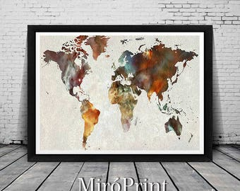 Large world map world map print world map art world map wall art world map world map decor world map print world map poster gumiabroncs Image collections