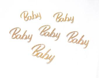 Baby shower confetti | Glitter confetti | Baby shower decor | Table confetti | Party decoration | Party confetti | Party decor | Table decor