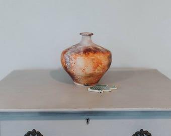 Wheel Thrown Pit Fired  Cosmic Vase