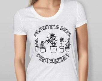 Plants are Friends - White T-shirt