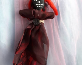 Authentic Voodoo Doll Vodou New Orleans Altar Doll Juju Handmade Poppet Art Doll Unique One of a Kind