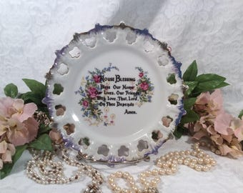 "Dixie Japan, ""House Blessing"", Hanging Collectors Plate"