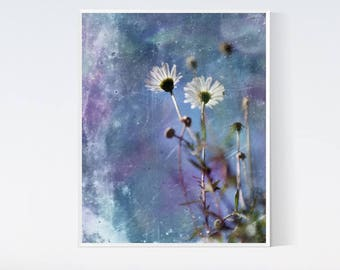 Wild flower print - pictures of nature - Bedroom boho decor - Floral poster, artwork, download, 8x10, daisy, wall hanging, for living room