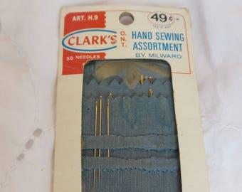 Vintage Clark's Sewing Needles, Milwood Sewing Needles