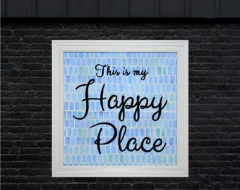 New Home Sign, New Home Housewarming Gift, New Home Gift, New House Gift, New Homeowners, House Warming Gift, This is my Happy Place Sign