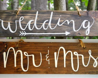 Reversible Wedding Direction/Mr & Mrs Sign