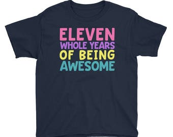 11th Birthday Party Shirt - Eleven 11 Year Old Shirt for Girls - Birthday Shirt for Girls 11 - Birthday Girl Shirt 11 Eleventh Birthday Gift