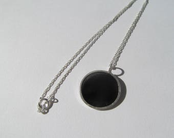 Sterling Silver and Black Resin Necklace