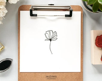 Royal Poinciana Rubber Stamp - Floral Stamp - Royal Poinciana Stamp - Flower Stamp - Flower Rubber Stamp - Hand Drawn