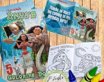 moana coloring book moana party favor moana favors custom coloring book personalized