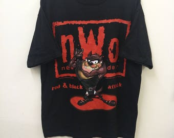 Vintage NWO Looney Tunes//New World Order//Wrestling World Championship//Size XL//Made In USA
