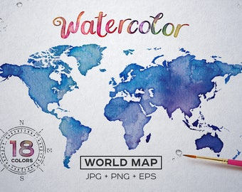 Buy map of maine in raster and vector file format 28 images watercolor world map etsy buy gumiabroncs Images