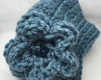Lady's Crocheted Super Chunky Slouchy Hat