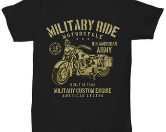 Military Ride Motorcycle 1942 T-shirt