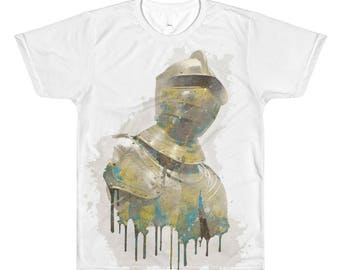 Golden Suit of Armor All-Over Printed T-Shirt | Knight | Men's Women's Gift Tee