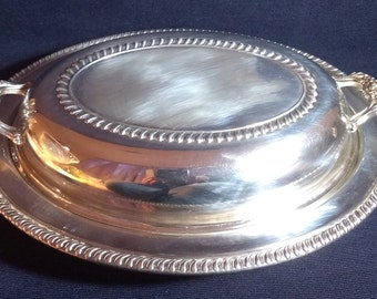 Stunning Vintage F. B Rogers Covered Vegetable Dish Silver Plated and made in the USA