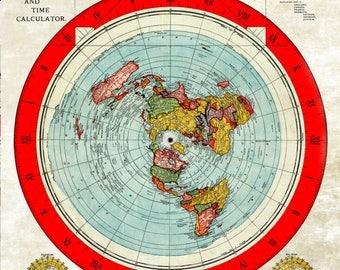 Flat Earth Gleason Map RESTORED EDITION A3, A2, A1 or A0