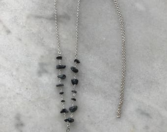 Pyrite and Black Obsidian