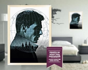 Mission Impossible poster, fan art, mission impossible print, mission impossible, digital style, 90's, 90s, cool GIFTS, cool gift ideas